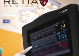 Retia - Monitor Argos para medición de Gasto Cardiaco Mínimamente Invasivo sin necesidad de insumos